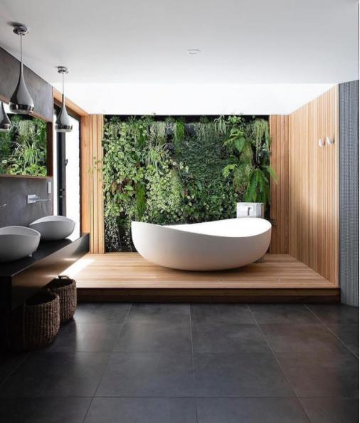 Salle de bains naturelle